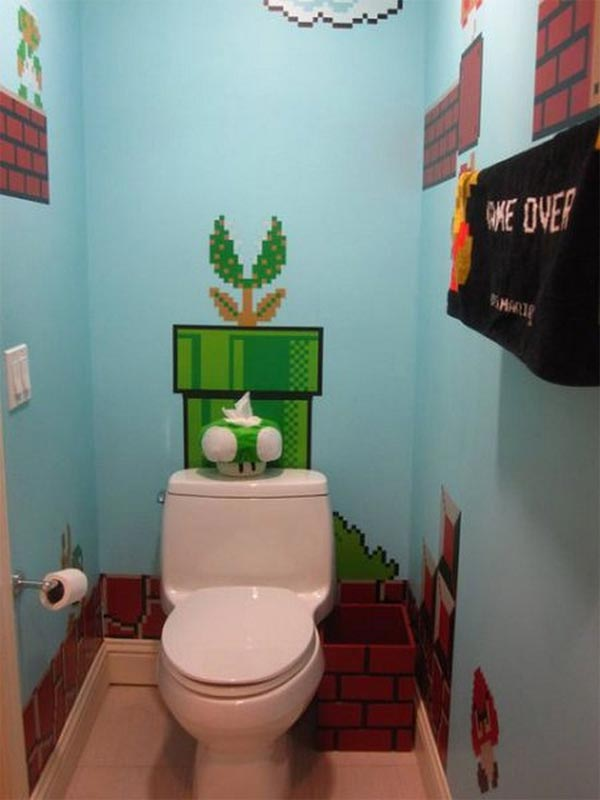 Toilet Seat of Super Mario Themed Toilet