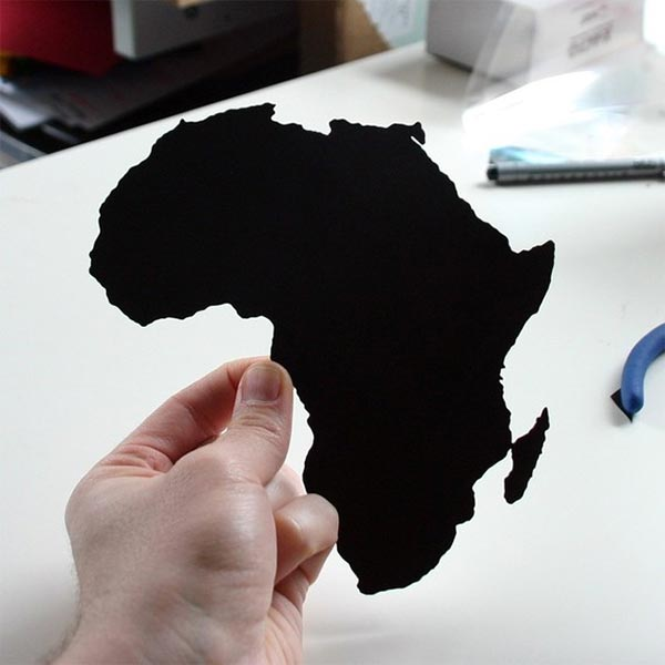 Paper-Cut World Map Silhouettes