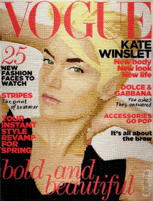 Hand-Stitched Vogue Magazine Covers