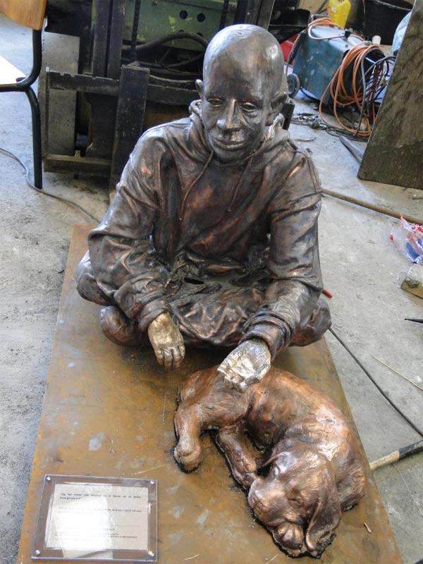 Homeless People Sculpture