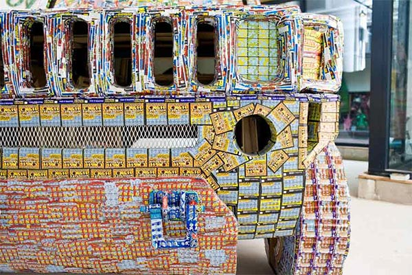 Car Made with Lottery Tickets