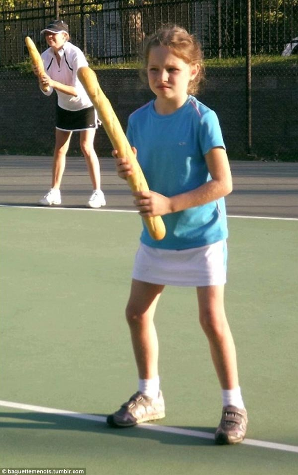 Playing Tennis with Baguette