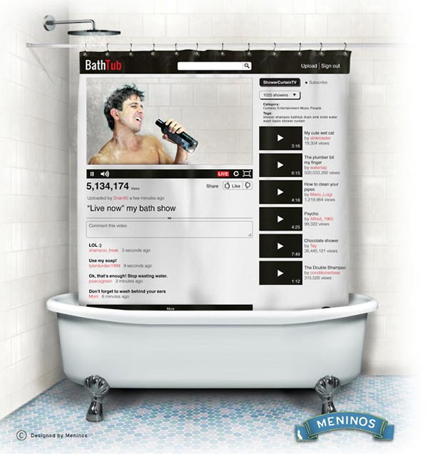 Youtube-Inspired Shower Curtain