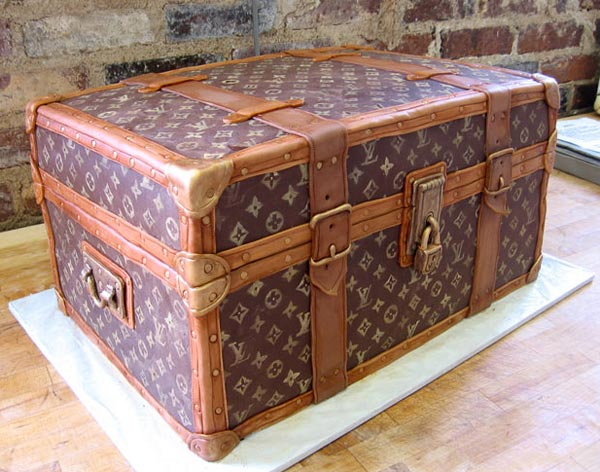 Louis Vuitton Trunk Cake Designs by Karen Portaleo