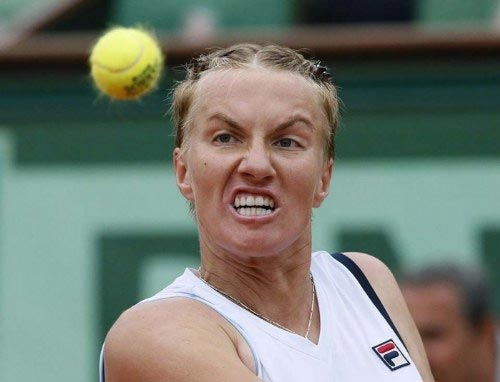 Funny Faces of Tennis Players