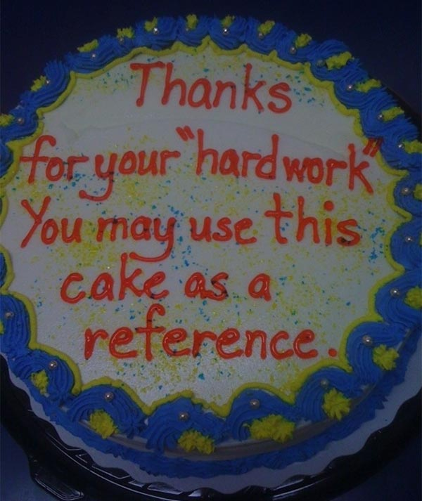 Honest Cake Message
