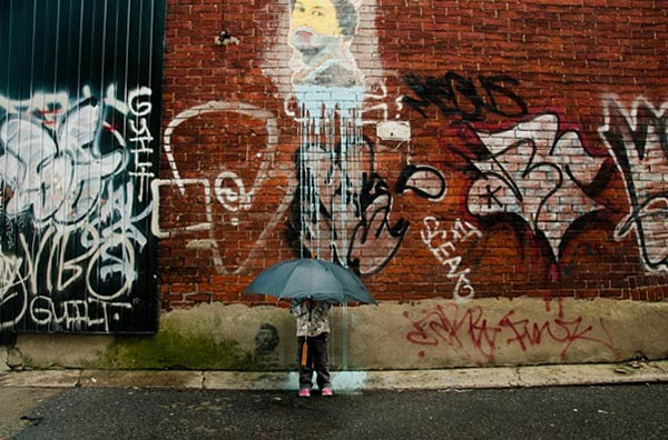 Imaginative Photographs Show People Interacting with Street Art