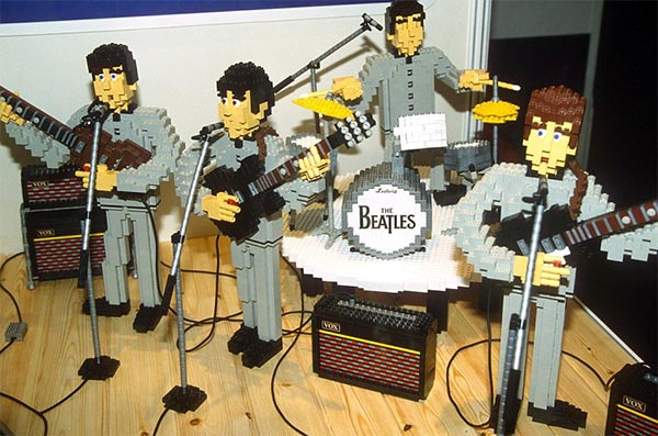 """The Beatles"" recreated with Lego bricks"