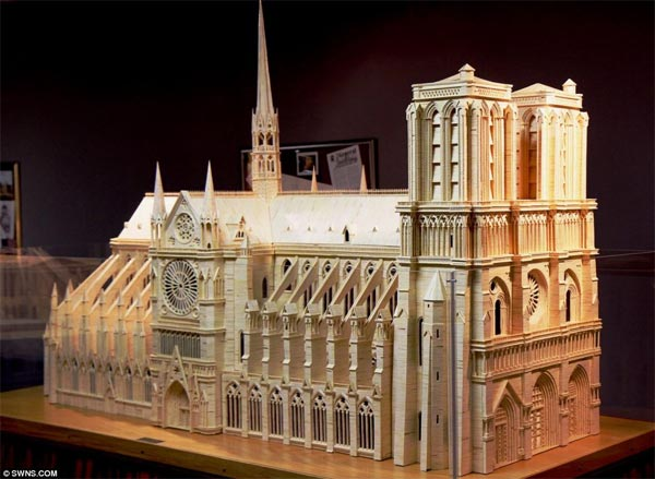 Matchstick Replica of Cathedral