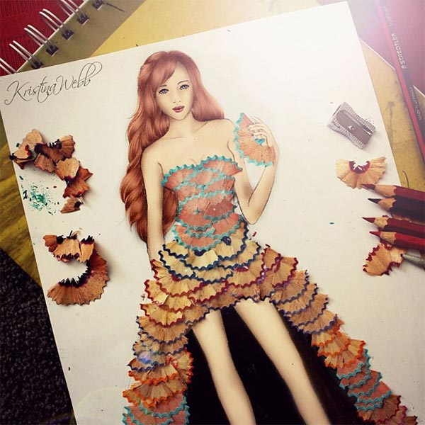 Dress Made Out of Pencil Shaving
