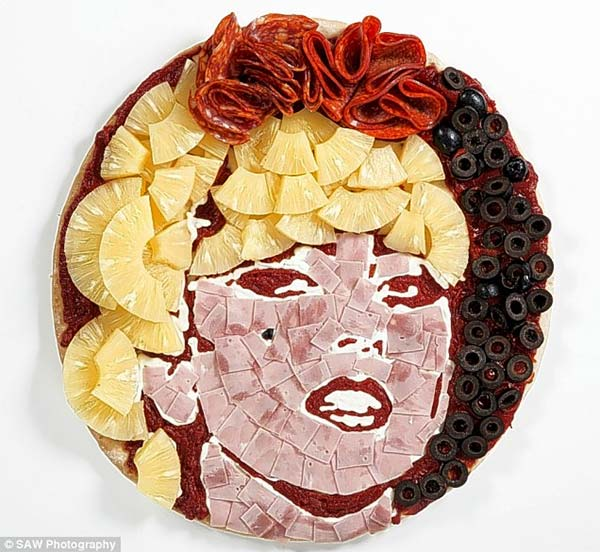 Lady Gaga Pizza Portrait