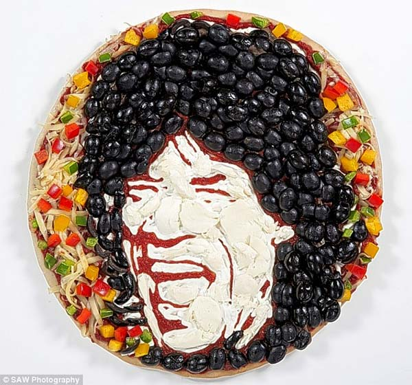 Mick Jagger Pizza Portrait
