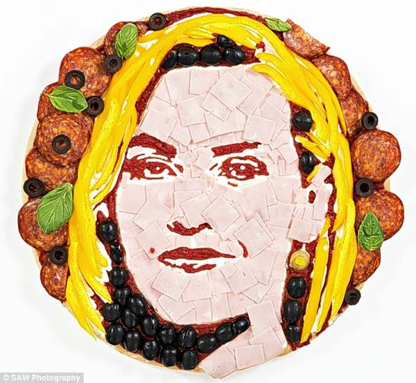 Kate Winslet Pizza Portait