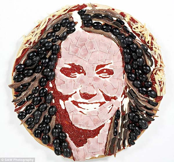 Kate Middleton Pizza Portrait