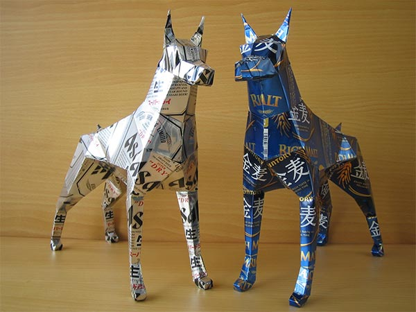 Recycled Beer Can Sculptures