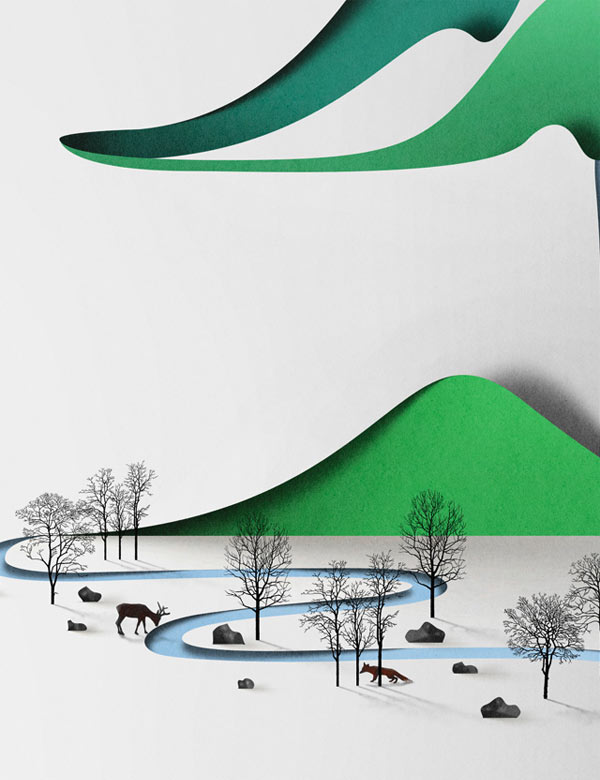 Paper Landscapes by Eiko Ojala