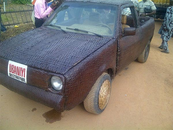 African Car Made From Woven Raffia Palm
