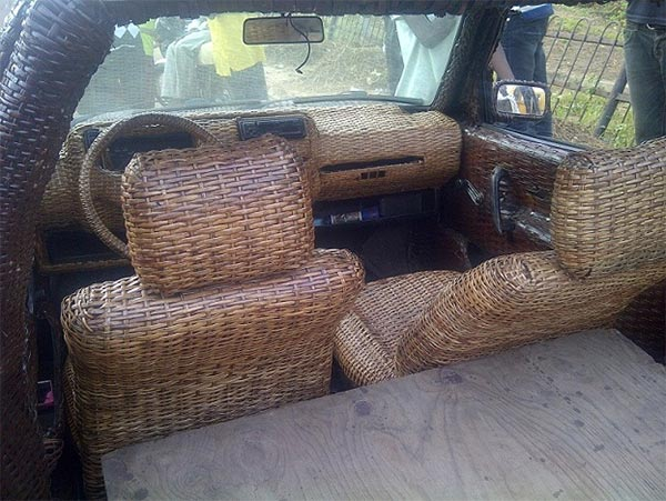 Car Made Out Of Basket In Ibadan
