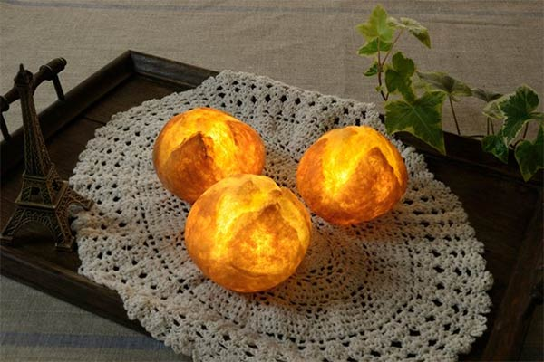Bread Lamps Made From Actual Bread