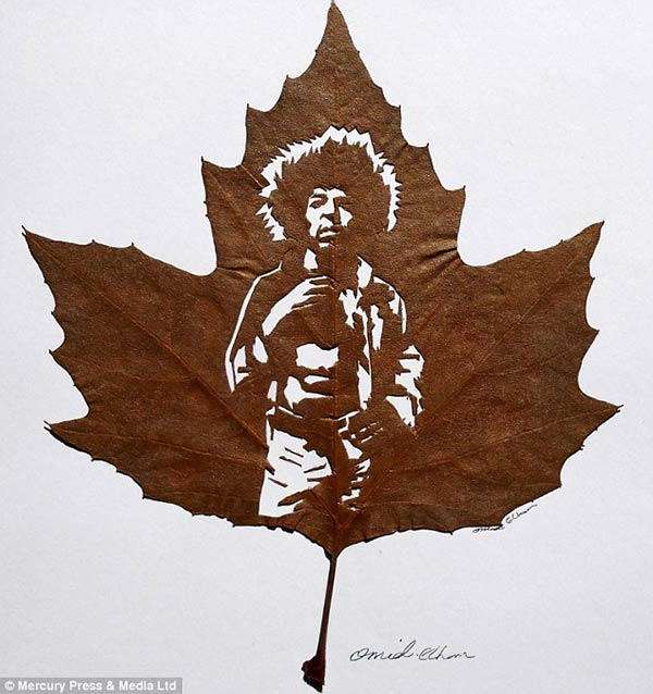 Intricate Leaf Cutting Art by Omid Asadi