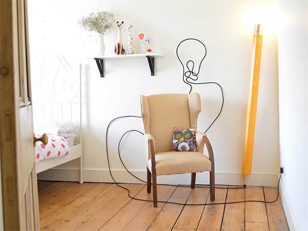 Pencil-Shaped Floor Lamp