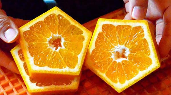 Pentagon-Shaped Oranges