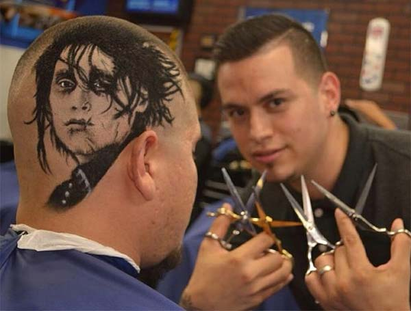 Artist Cuts Hair Into Photo-Realistic Portraits
