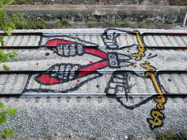 Train Tracks Graffiti