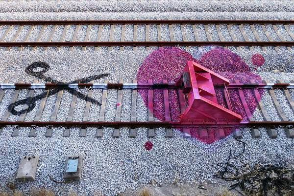 Railroad Tracks Street Art