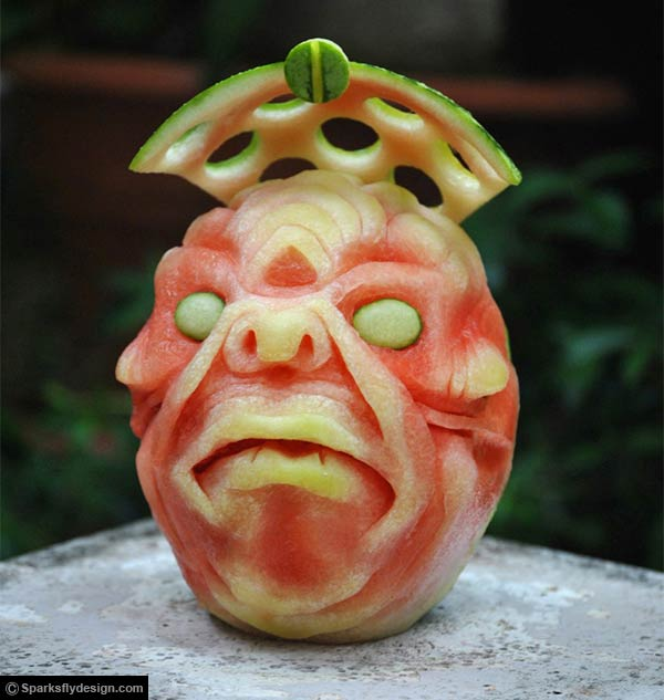 Watermelon Carvings by Clive Cooper