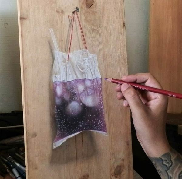 Photo-realistic Drawings on Wooden Boards