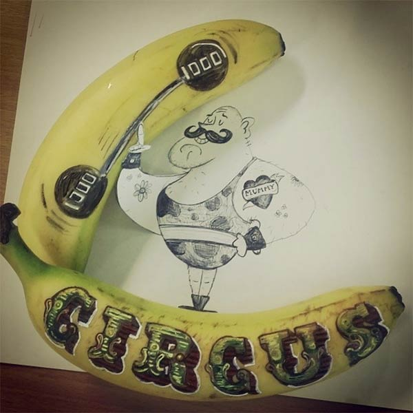 Fun With Fruit - Banana Art Series By Elisa Roche