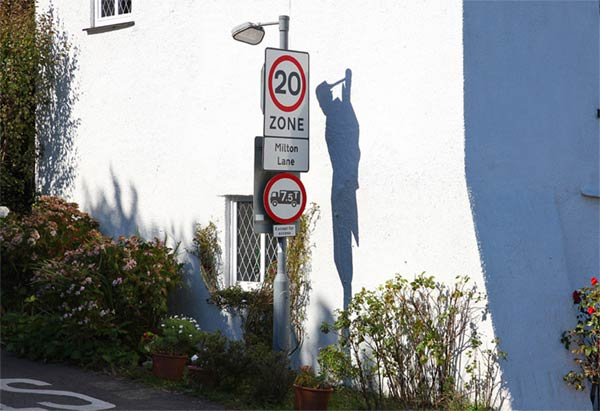 Shadow of a hanging man mysteriously appeared at a place called Dead Man's Cross