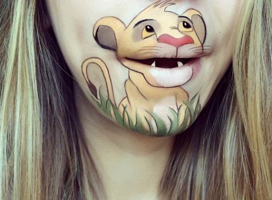 Funny Lip Art Creations By Laura Jenkinson