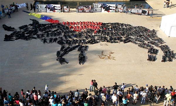Bull Shape Formed By Members of Animal Rights Organization