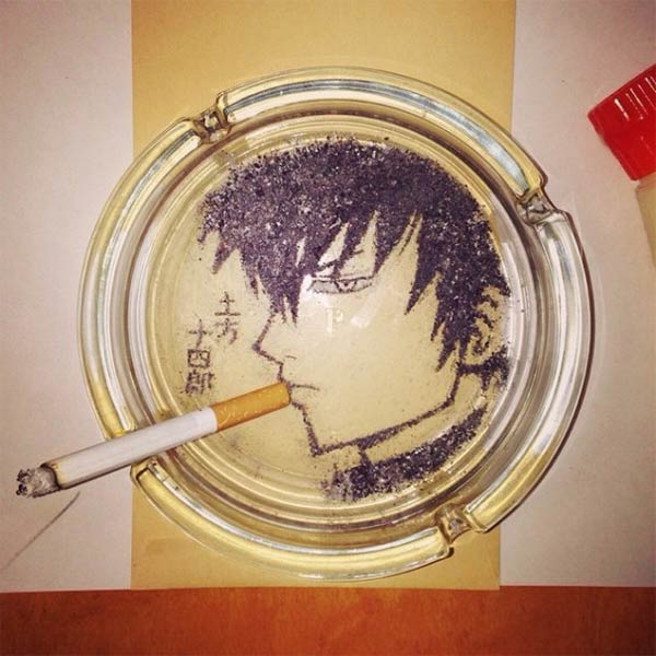 Cigarette Ash Art by Shinrashinge