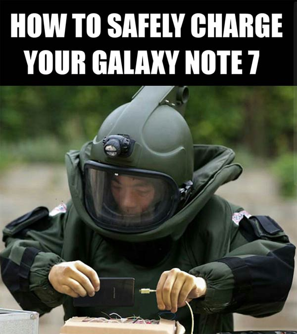 Funny Reaction to Samsung Note 7