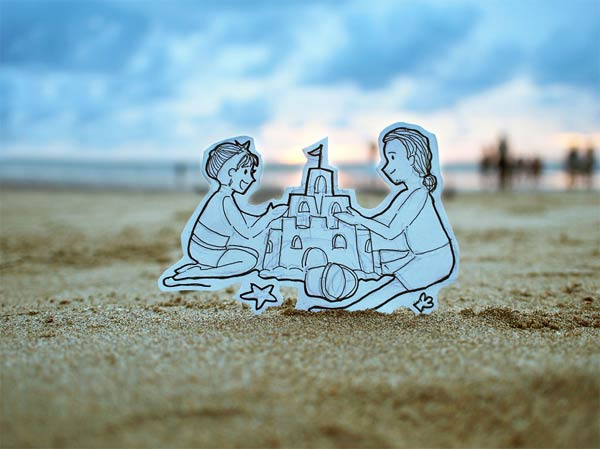 Couple Replaces Selfies with Creative Doodles
