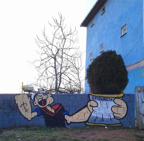 Popeye Spinach Tree
