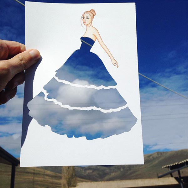 Paper Cut-out Dresses by Edgar Artis