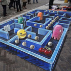"Inspired by Arcade's video game Pac-Man from the 80s, 3D street artist Leon Keer created this amazing 3D painting on the sidewalk in Venlo, Netherlands. Keer Said, ""The 3D..."