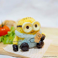 Doctor Sculpts Rice into Colorful Characters