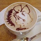 Anime Coffee Art