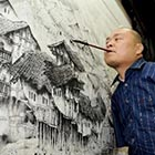 Armless Painter Paints with His Feet