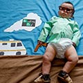 Adorable Baby Dressed Up Like Popular TV Show Characters