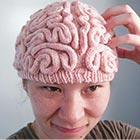 Knitted Brain Hat By Alan Noritake