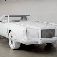 1979 Lincoln Continental Car Recreated in Cardboard