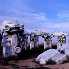 Stonhenge Built with 38 Classic American Cars