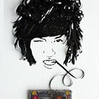 Amazing Portraits Drawn With Cassette Tapes