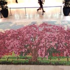 Cherry Blossom Tree Mosaic Made with Cupcakes